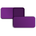 Two purple rectangles staggered overtop each other