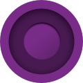 Two purple circles within each other